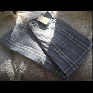❌NWT❌ BURBERRY 🔥Plaid gray plaid cropped Pants